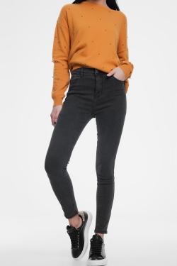 Figurformende Skinny-Jeans in Dunkelgrau