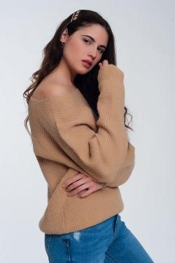Strukturierter Pullover in Beige